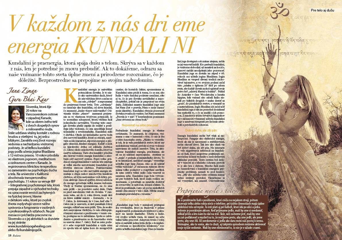Kundalini Len kundalini joga slovensko